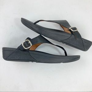 Fitflop The Skinny Leather Toe Post Sandals Sz 11